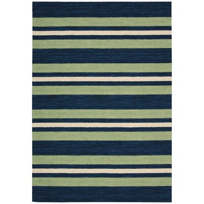 Oxford Handmade Green/Blue Area Rug Rug Size: Runner 23 x 8