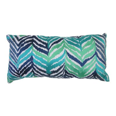 Tropical Leaves Embroidered Lumbar Pillow