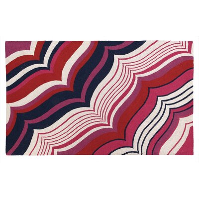 Malibu Hook Berry Area Rug