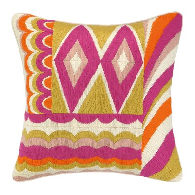 Coronado Bargello Decorative Wool Throw Pillow Color: Pink