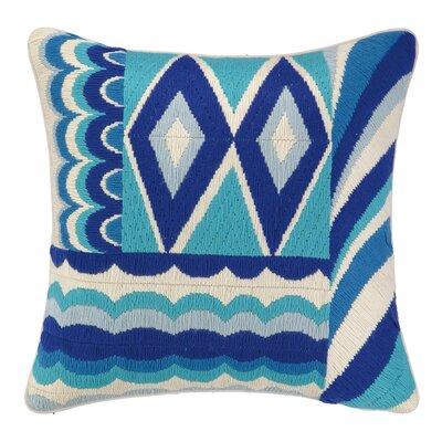 Coronado Bargello Decorative Wool Throw Pillow Color: Blue