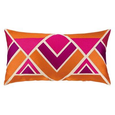 Los Altos Embroidered Linen Lumbar Pillow Color: Berry