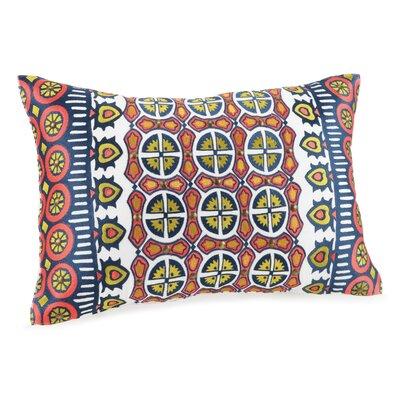 Hollyhock Cotton Lumbar Pillow