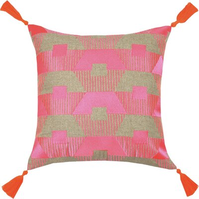 Neon Torrance Linen Throw Pillow Color: Pink
