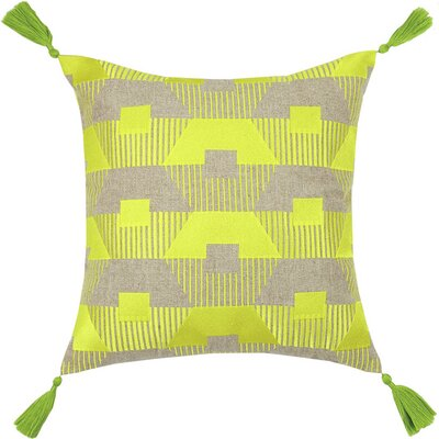Neon Torrance Linen Throw Pillow Color: Citron