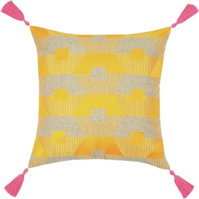 Neon Torrance Linen Throw Pillow Color: Orange