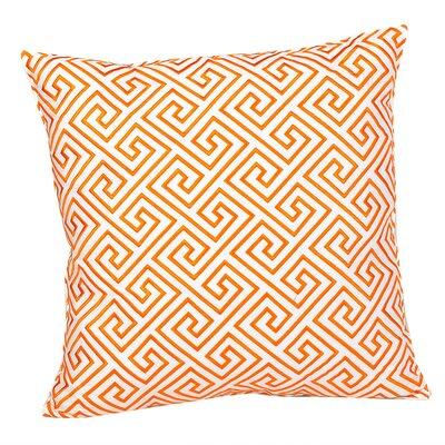 Geometric 100% Cotton Throw Pillow Color: Geometric Orange