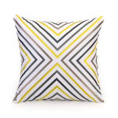 Zig Zag 100% Cotton Throw Pillow Color: Zig Zag Yellow