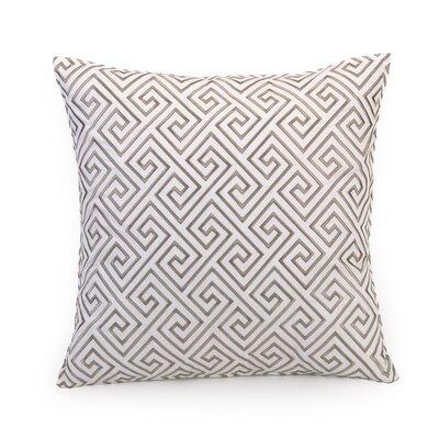Geometric 100% Cotton Throw Pillow Color: Geometric Tan