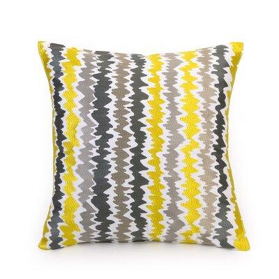 Ikat 100% Cotton Throw Pillow Color: Ikat Stripe Yellow