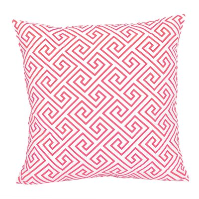 Santorini, Geometric Pink Embroidered Pillow Color: Geometric Pink