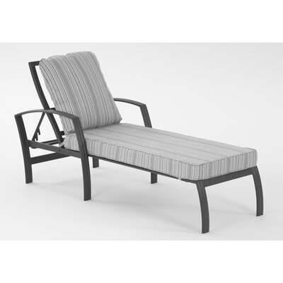 Escape Chaise Lounge  with Cushion Fabric: Dupione Oak