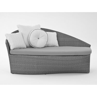 Sail Chaise Lounge with Cushion Fabric: Dupione Palm