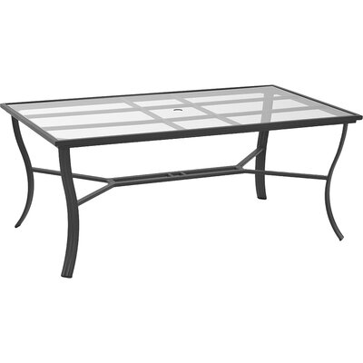 Escape Rectangle Dining Table with Umbrella Hole