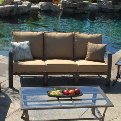 Escape Deep Seat Sofa Fabric: Canvas Spa