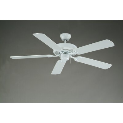 52 Royal Knight 5-Blade Ceiling Fan Finish: White with White Blades