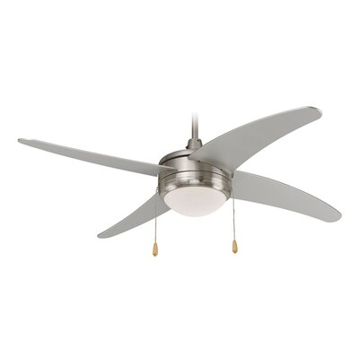 50 Europa 4-Blade Ceiling Fan Finish: Brushed Nickel