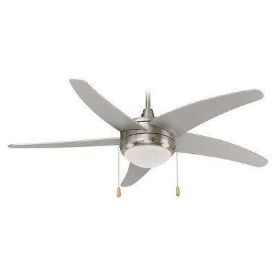 50 Mirage 5-Blade Ceiling Fan Finish: Brushed Nickel