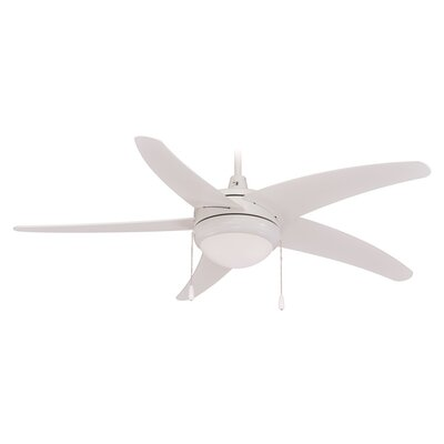 50 Mirage 5-Blade Ceiling Fan Finish: White