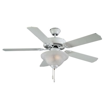 52 Atlantic 5-Blade Ceiling Fan Finish: White with White Blades