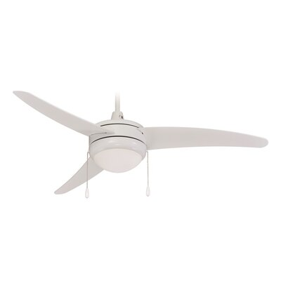 50 Contempo 3-Blade Ceiling Fan Finish: White