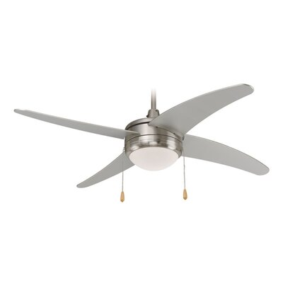 1-Light 4 Blade Bowl Ceiling Fan Finish: Brushed Nickel