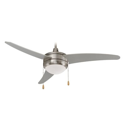 3-Blade Ceiling Fan Finish: Brushed Nickel