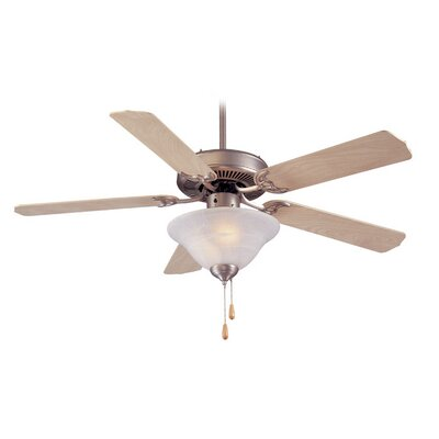 52 Atlantic 5-Blade Ceiling Fan Finish: Brushed Nickel with Natural Maple Blades