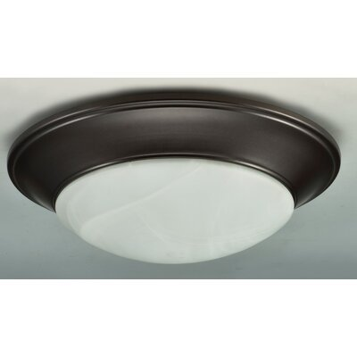 Flush Mount Finish: Brushed Nickel, Size: 3.5 H x 13 W x 13 D