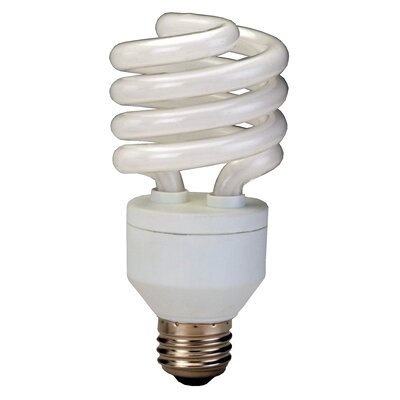 E26/Medium Compact Fluorescent Light Bulb Wattage: 20W, Bulb Temperature: 2700K