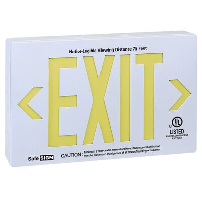 Photo Luminescent Exit in White