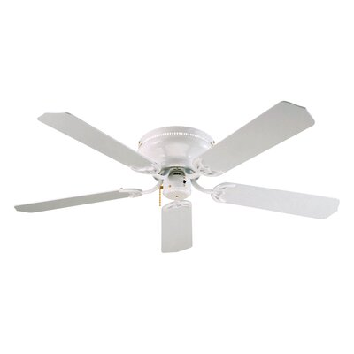 52 Royal Knight Hugger 5-Blade Ceiling Fan Finish: White with White Blades