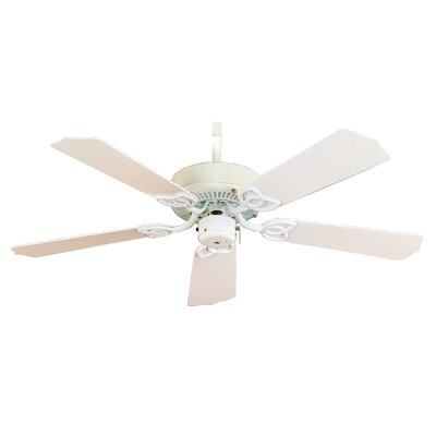 42 Sunset 5-Blade Outdoor Ceiling Fan Finish: White