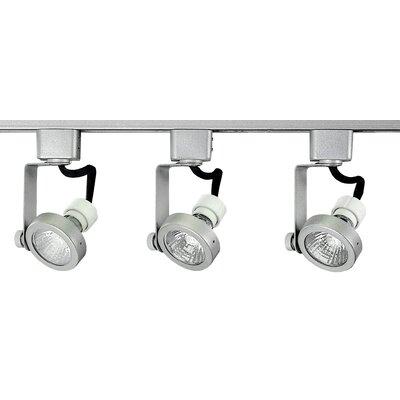 3-Light Pack Full Track Lighting Kit Finish: Brushed Aluminium