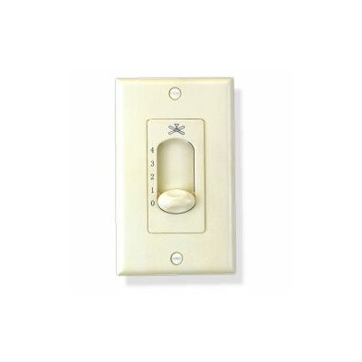 Three Speed Fan Wall Control in White