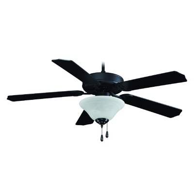 52 Atlantic 5-Blade Ceiling Fan Finish: Black with Black Blades