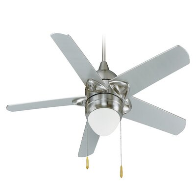 52 4-Blade Ceiling Fan Finish: Brushed Nickel