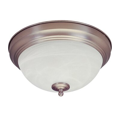 13W 2-Light Flush Mount