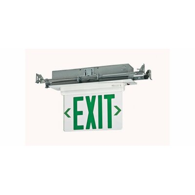 Double Edge Recessed LED Exit Sign Light