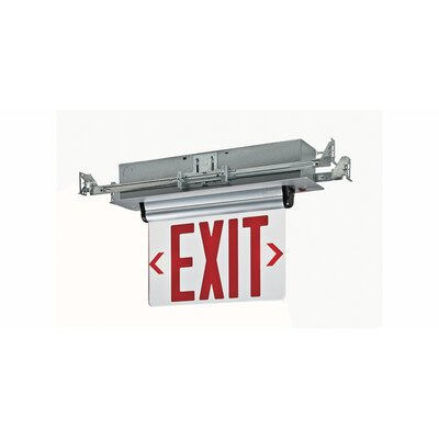 Double Edge Recessed LED Exit Sign Light in Red