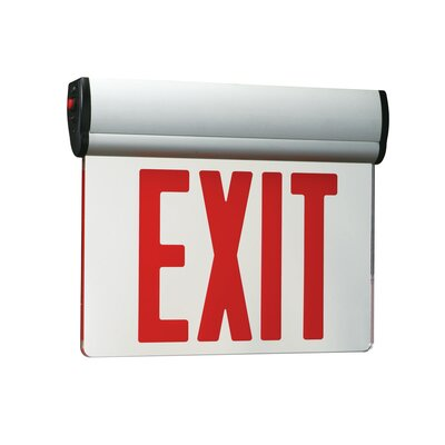 Double Slope Ceiling Edge Light Exit in Red