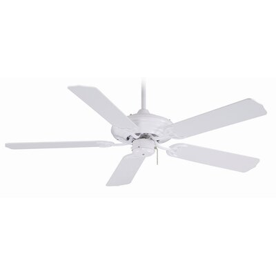 52 5-Blade Ceiling Fan Finish: White with White Blades