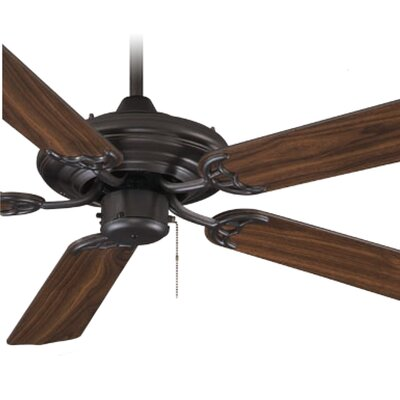 52 5-Blade Ceiling Fan Finish: Oil Rubbed Bronze with Walnut Blades