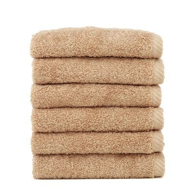 Soft Twist 100% Turkish Cotton Wash Cloth Color: Warm Sand