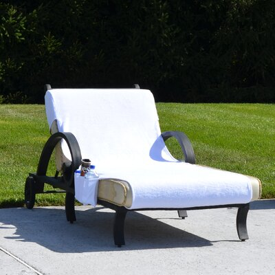 Chaise Lounge Cover with 3 Side Accessory Pockets Size: Standard: 102 H x 28 W