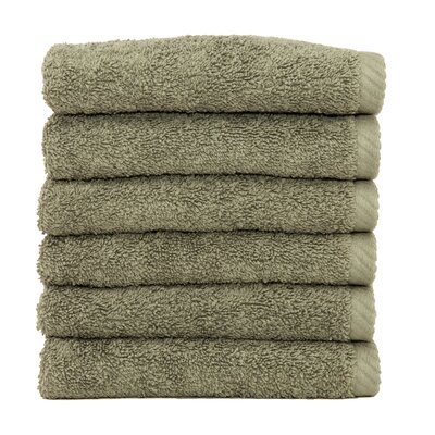 Soft Twist 100% Turkish Cotton Wash Cloth Color: Light Olive