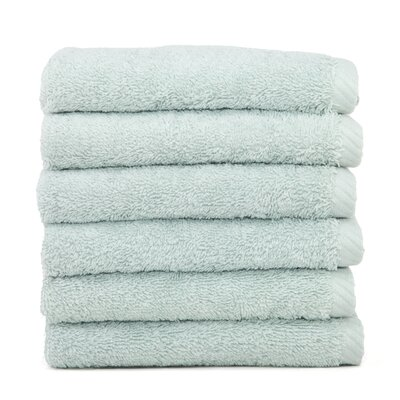 Soft Twist 100% Turkish Cotton Wash Cloth Color: Soft Aqua
