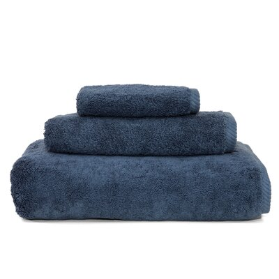 Soft Twist 100% Turkish Cotton 3 Piece Towel Set Color: Midnight Blue