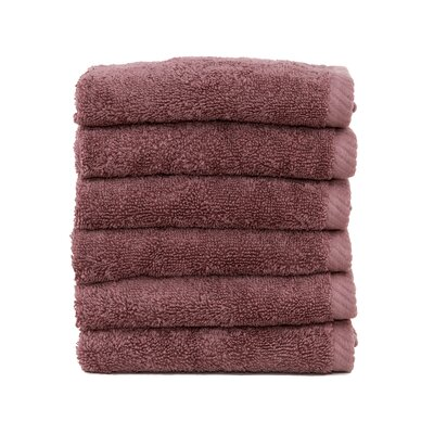 Soft Twist 100% Turkish Cotton Wash Cloth Color: Sugar Plum