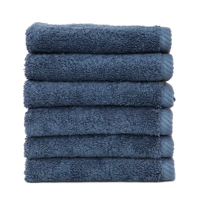 Soft Twist 100% Turkish Cotton Wash Cloth Color: Midnight Blue